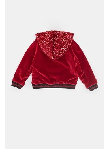 BG Baby Kız Bebek Kırmızı Eşofman Üstü 20Fw0Bg2414 Kırmızı